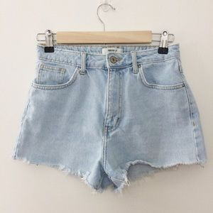 Forever 21 High Waisted Cutoff Light Wash Shorts